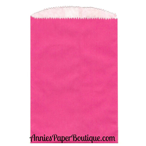 Small Hot Pink Glassine Bags - 4-3/4