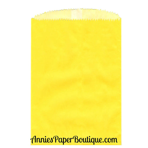 Small Yellow Glassine Bags - 4-3/4