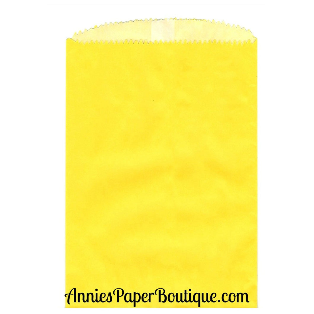 Yellow Glassine Bags - 4-3/4