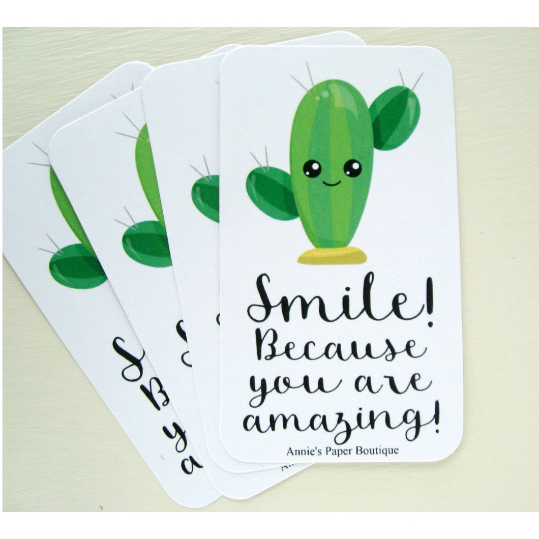 Smile Cactus Mini Messages