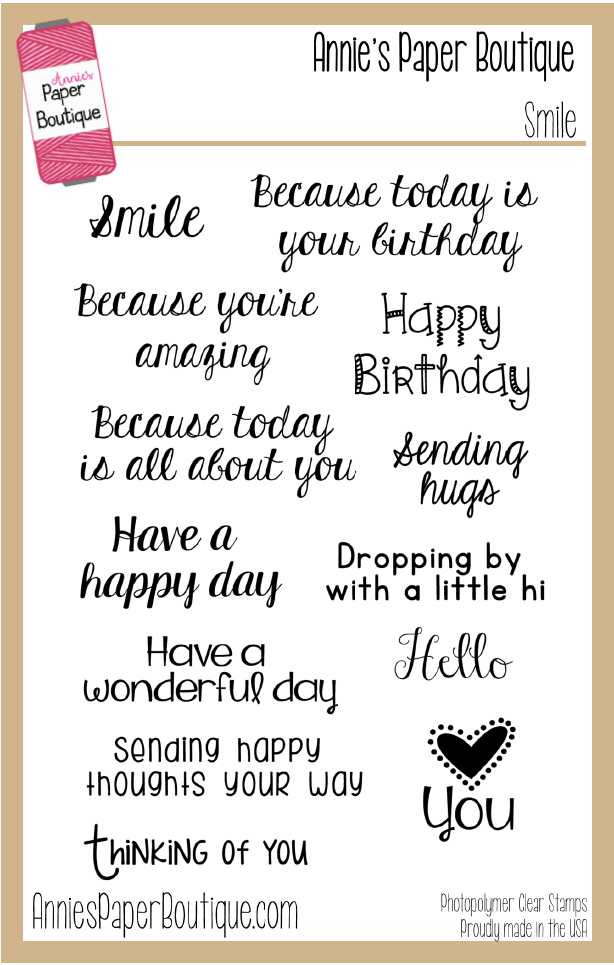 Smile Stamp Set - 4x6 - Everyday Greetings, Birthday, Sentiments ...
