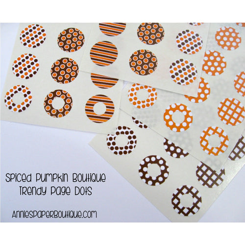 Spiced Pumpkin Trendy Page Dot Reinforcement Stickers