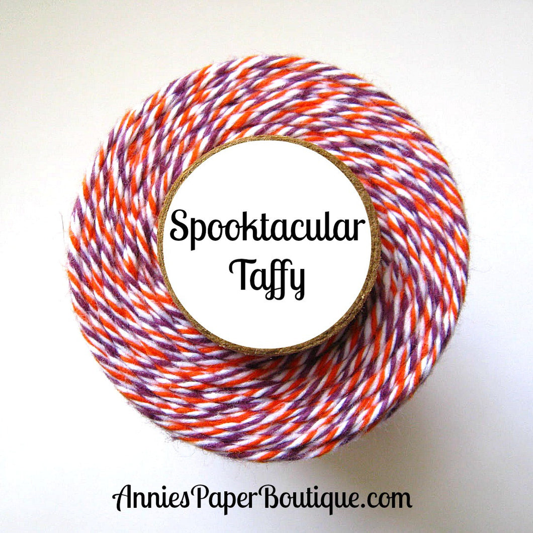 Spooktacular Taffy Trendy Bakers Twine - Orange, White, & Purple - Halloween