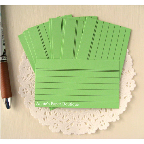Mini Index Cards - Spring Green