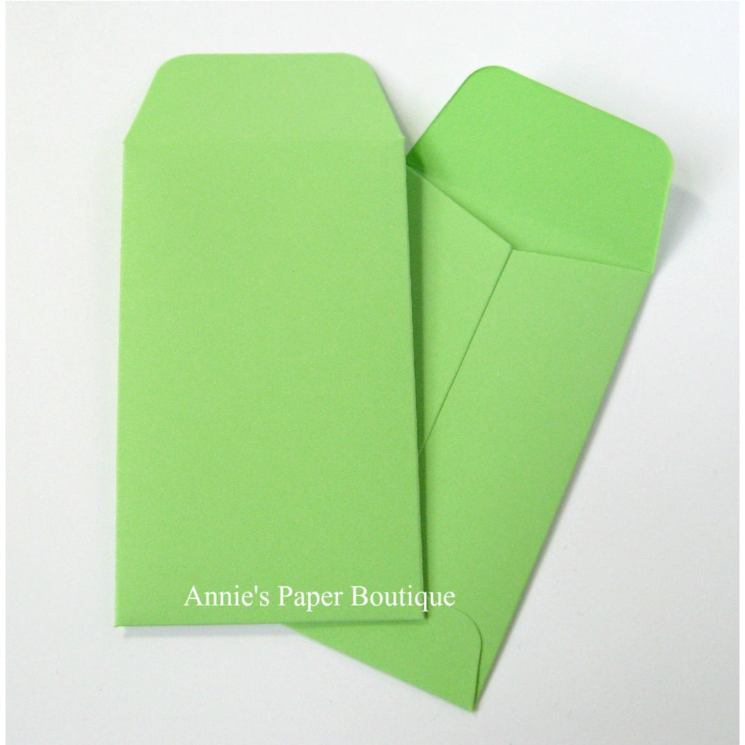 Spring Green Mini Seed Packet Envelopes