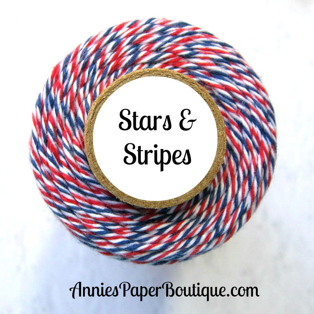 Red, White, and Blue Trendy Bakers Twine