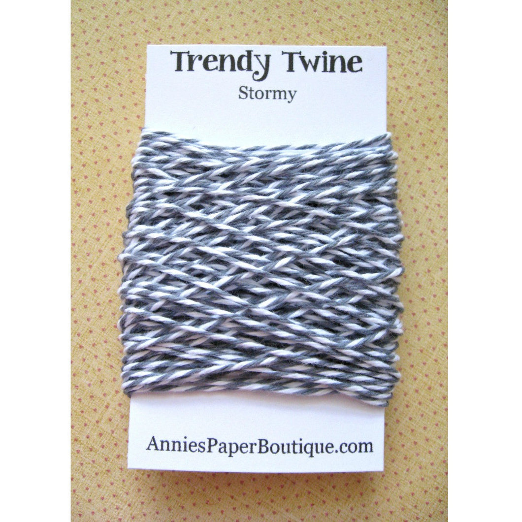 Stormy Trendy Bakers Twine Mini - Gray and White - Grey