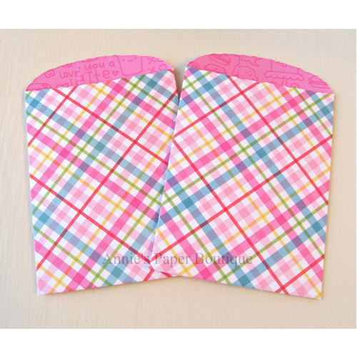Sugar Plaid Paper Pockets