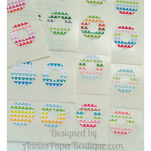 Swirly Trendy Page Dots™ - Hole Reinforcers, Planner Stickers