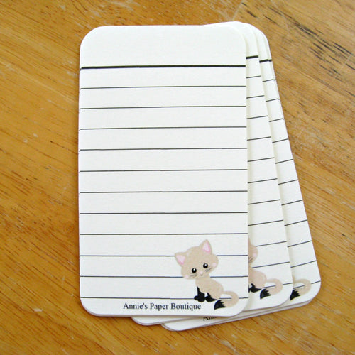 Tan Kitty Journaling Tags