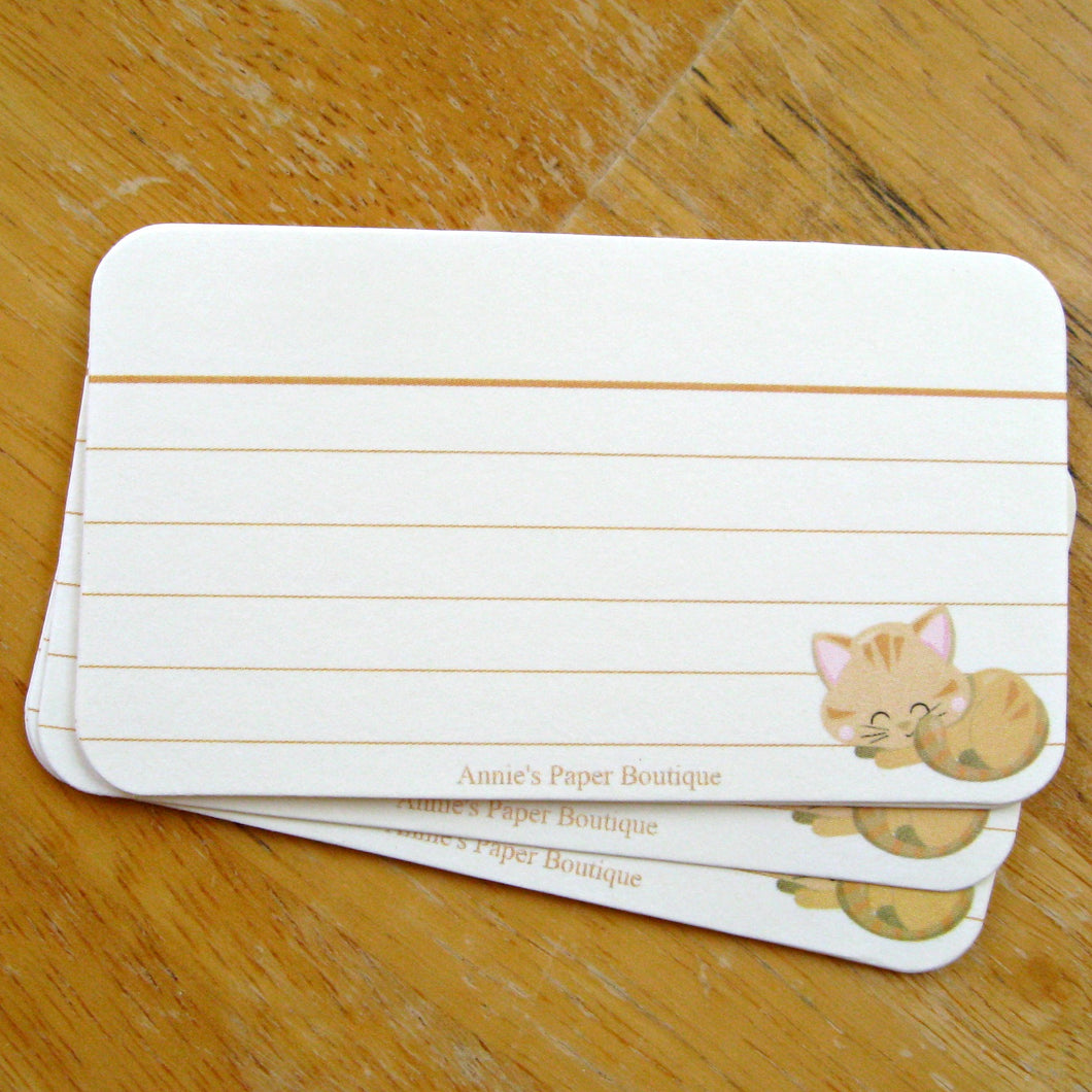 Tan Tabby Mini Note Cards