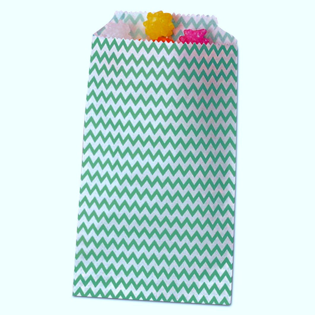 Teal Chevron Treat Bags