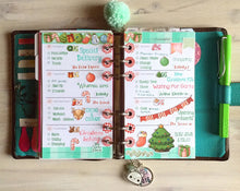 Planner Spread Mini Album using This is December Clear Stamp Set