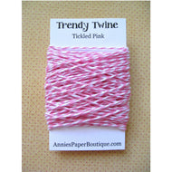 Tickled Pink Trendy Bakers Twine Mini - Pink & White