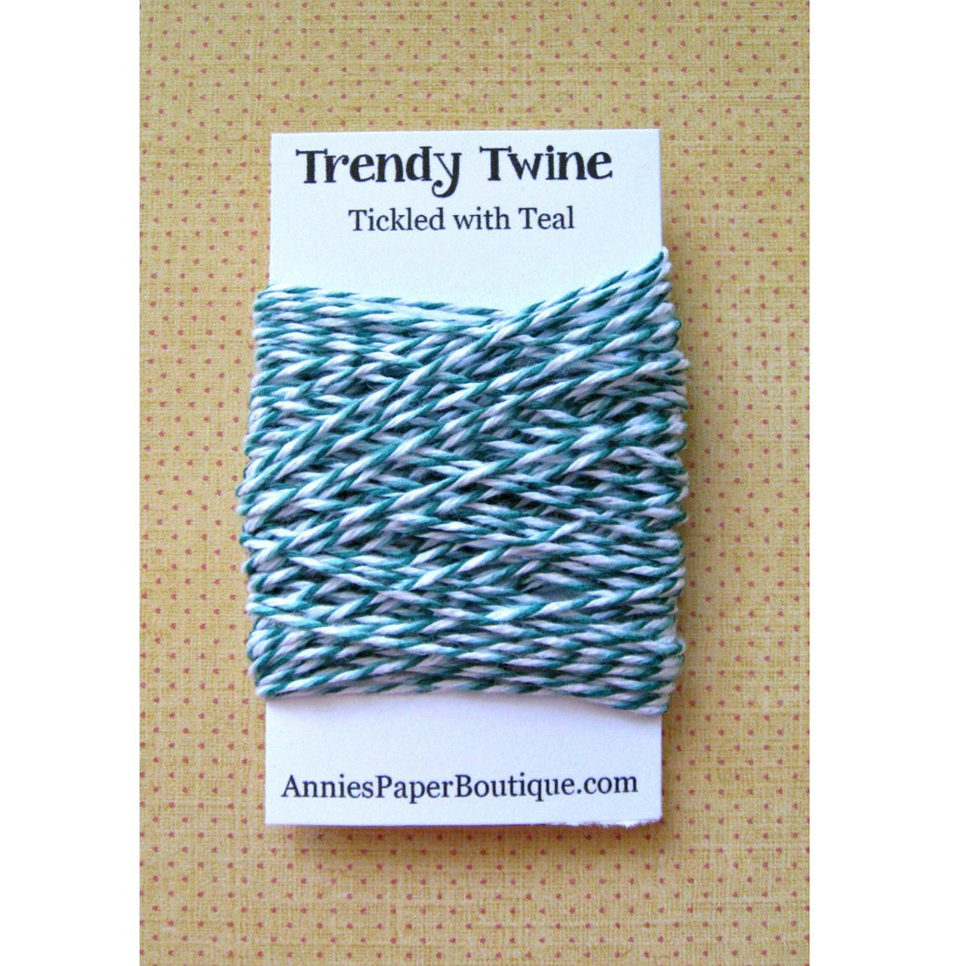 Tickled with Teal Trendy Bakers Twine Mini - Dark Teal, Light Teal, and White