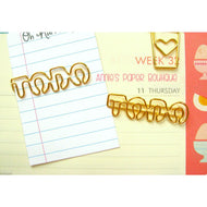 To Do Paper Clips - Gold Planner Clip