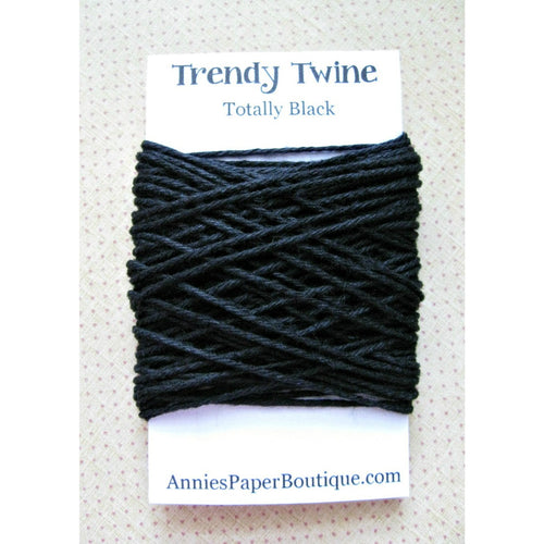 Solid Black Trendy Bakers Twine