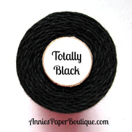 Totally Black Trendy Bakers Twine - Solid Black