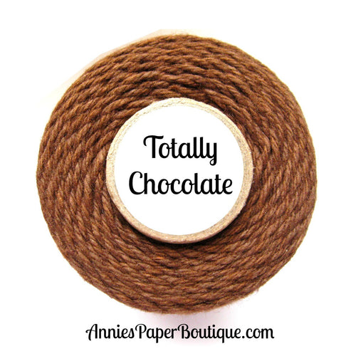 Totally Chocolate Trendy Bakers Twine - Solid Brown