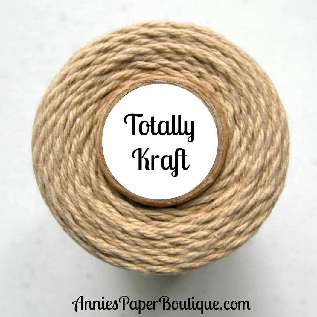 Totally Kraft Trendy Bakers Twine - Solid Light Brown - Flax, Tan