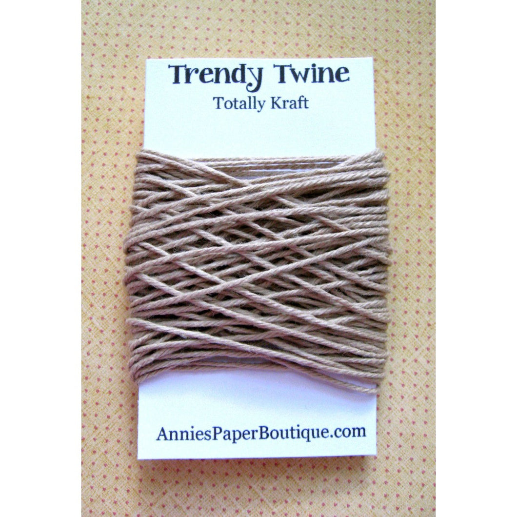 Totally Kraft Trendy Bakers Twine Mini - Solid Tan - Light Brown, Flax