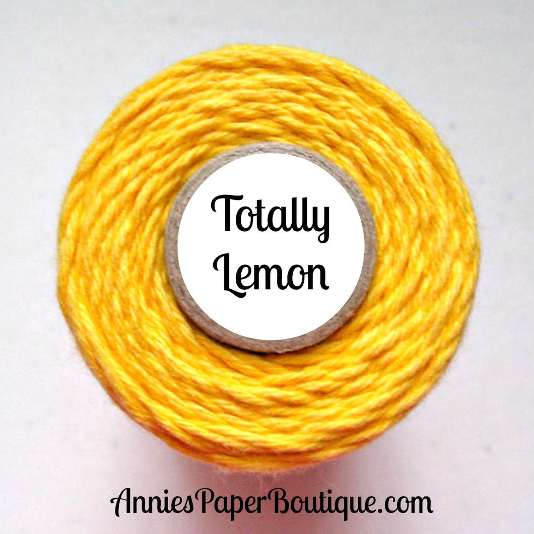 Totally Lemon Trendy Bakers Twine - Solid Yellow