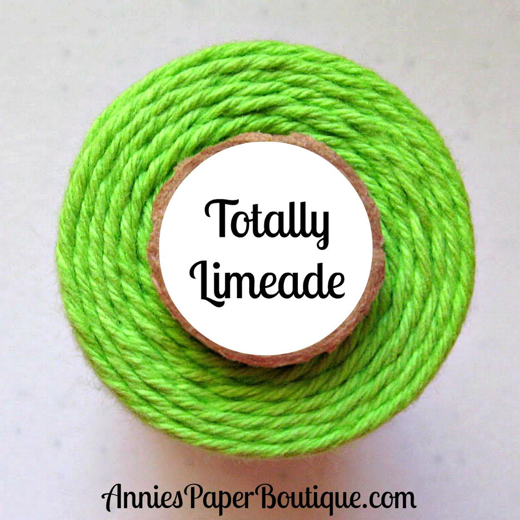 Totally Limeade Trendy Bakers Twine - Solid Bright Green