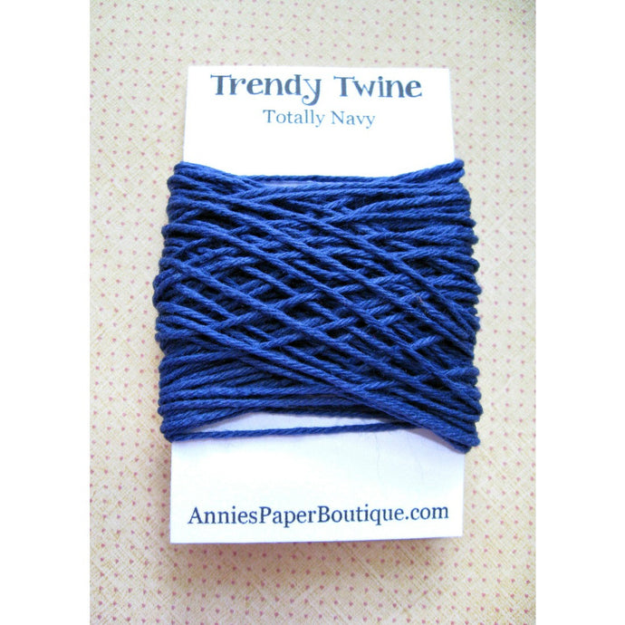 Totally Navy Trendy Bakers Twine Mini - Solid Navy Blue