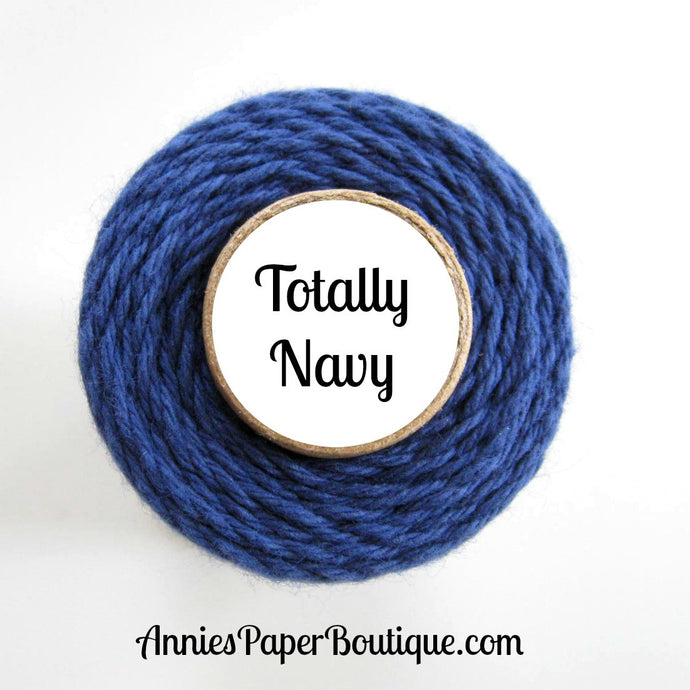 Totally Navy Trendy Bakers Twine - Solid Navy Blue