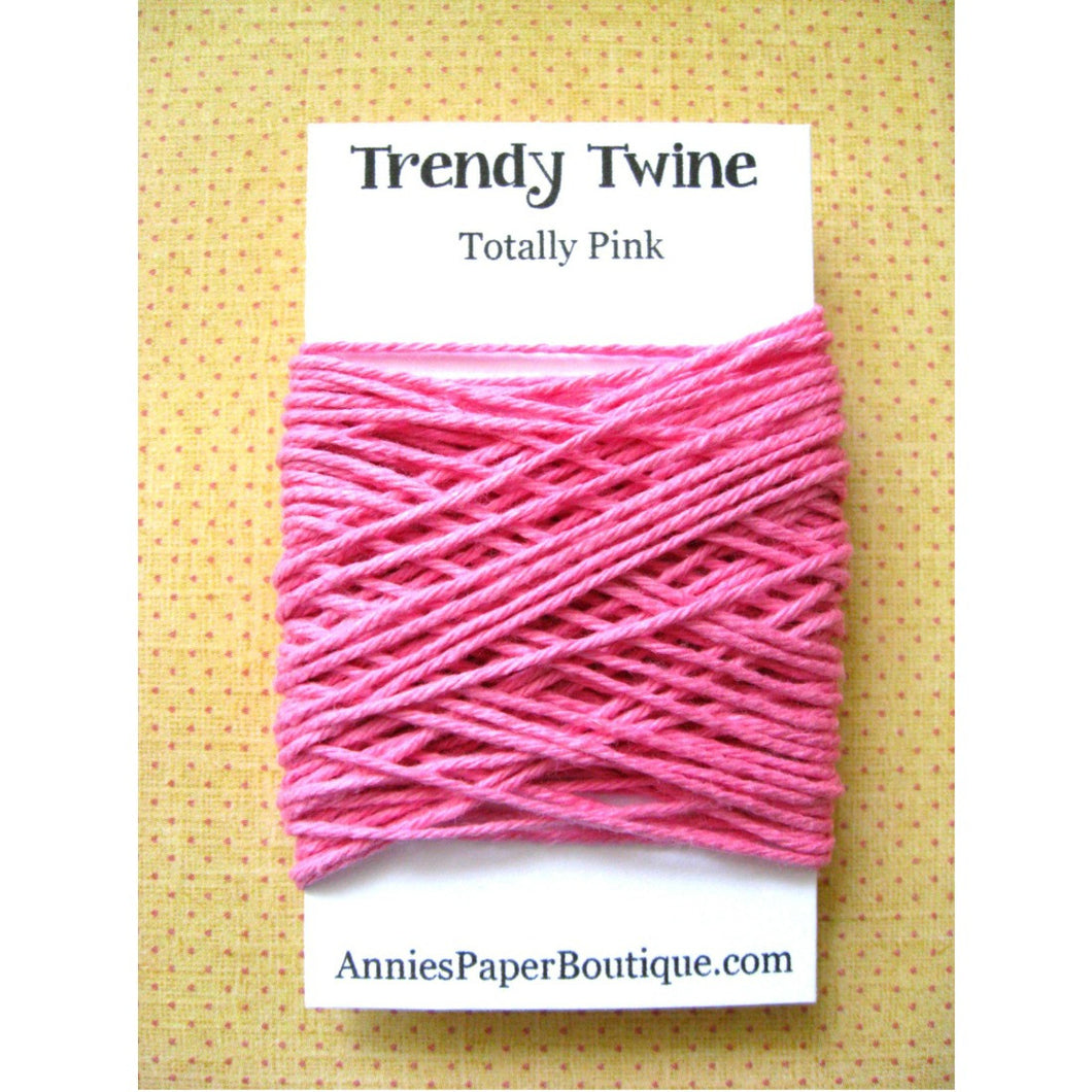 Totally Pink Trendy Bakers Twine Mini - Solid Pink
