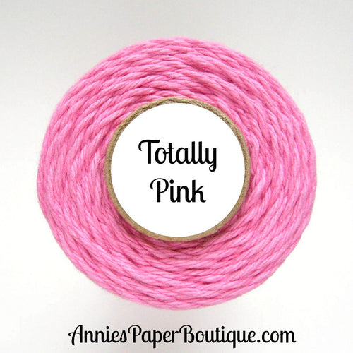Totally Pink Trendy Bakers Twine - Solid Pink