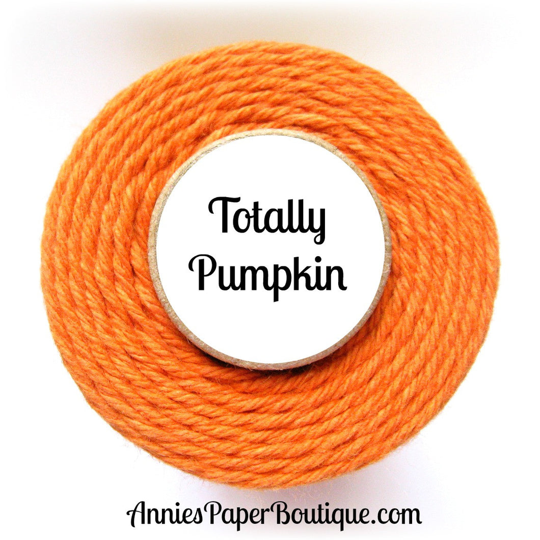 Totally Pumpkin Trendy Bakers Twine - Solid Pumpkin Orange