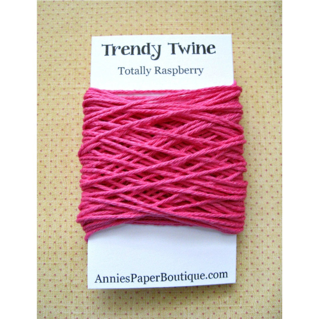 Totally Raspberry Trendy Bakers Twine Mini - Solid Dark Pink