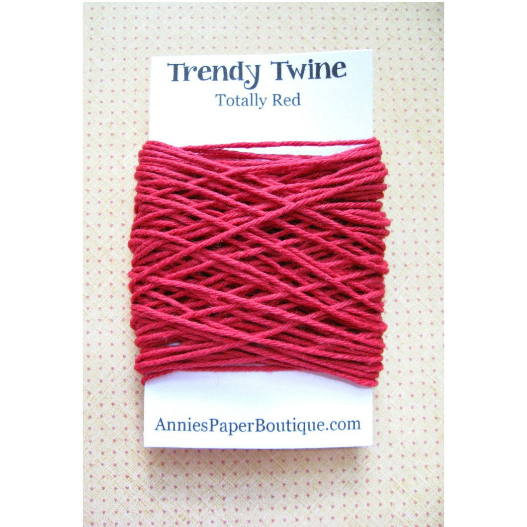 Totally Red Trendy Bakers Twine Mini - Solid Red