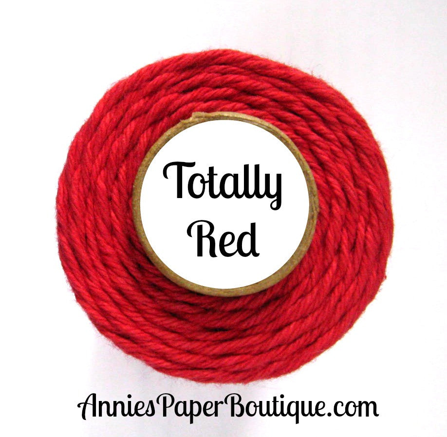 Totally Red Trendy Bakers Twine - Solid Red