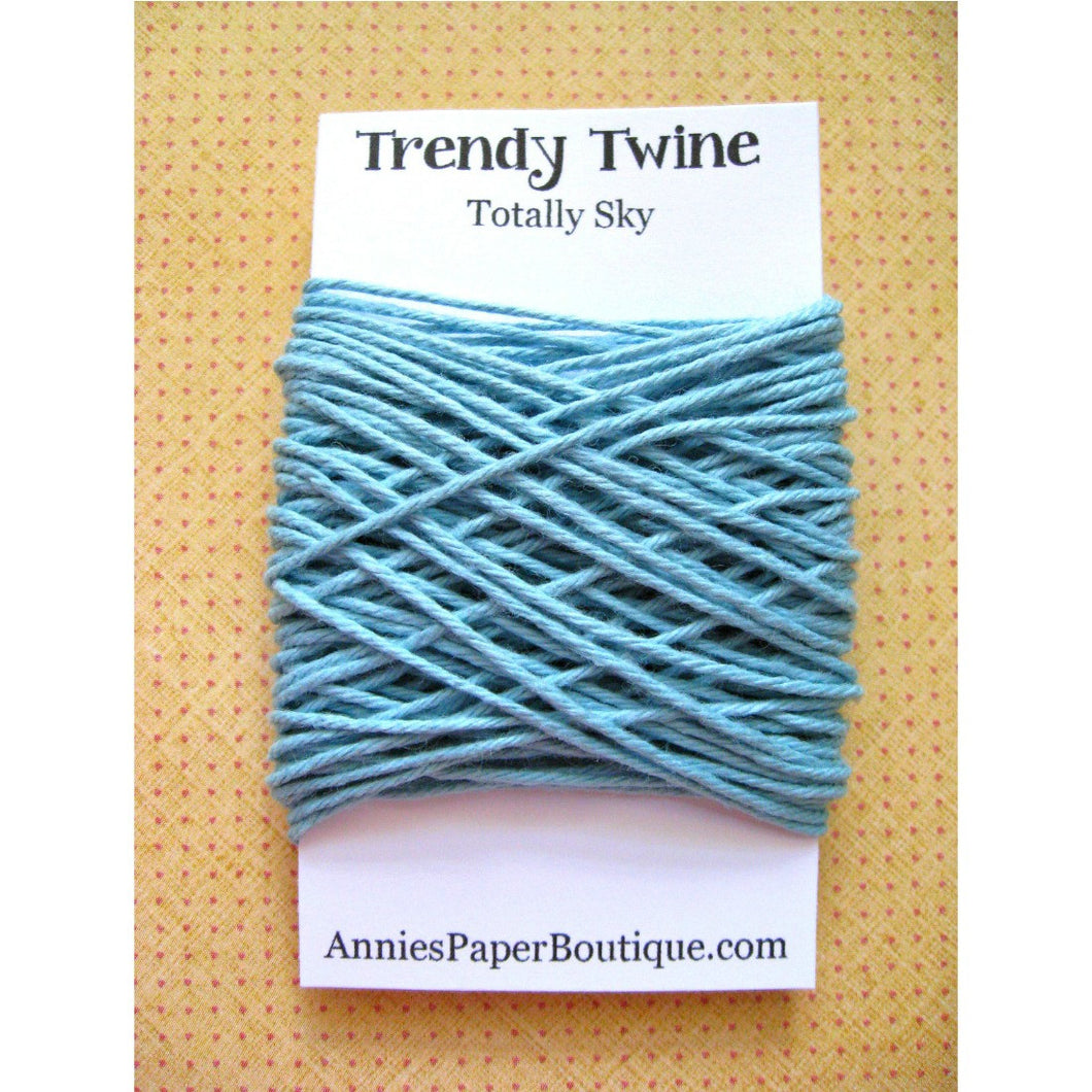 Totally Sky Trendy Bakers Twine Mini - Light Blue - 15 yards