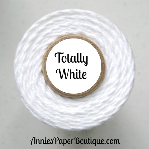 Totally White Trendy Bakers Twine - Solid White