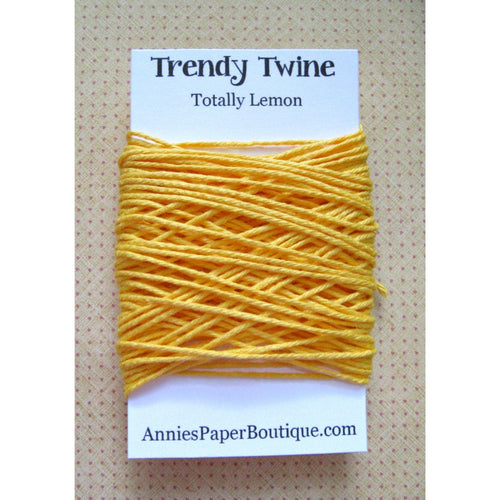Totally Lemon Trendy Bakers Twine Mini - Solid Yellow