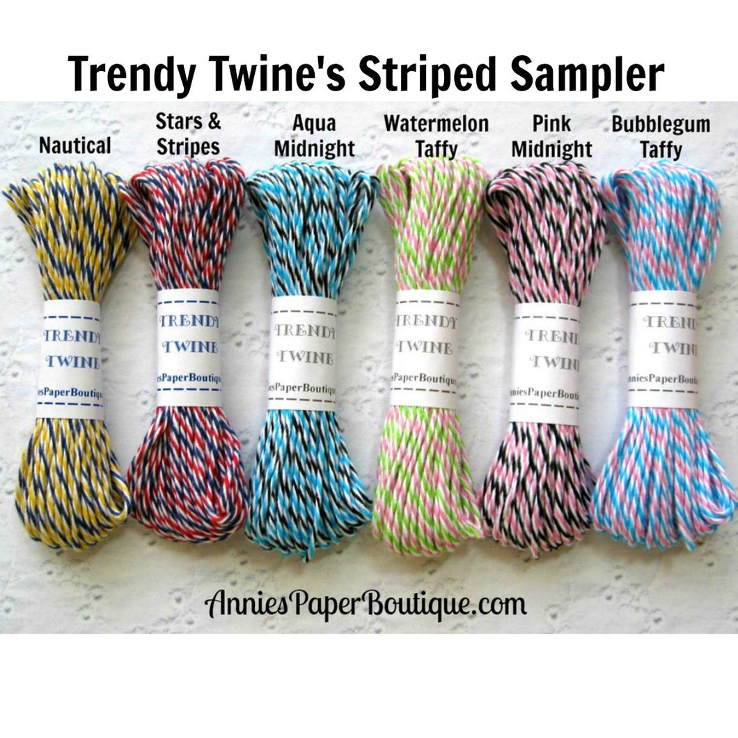 Trendy Bakers Twine Striped Sampler
