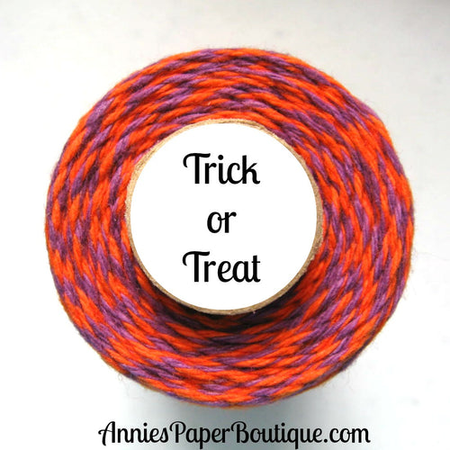 Trick or Treat Trendy Bakers Twine - Orange & Purple - Halloween
