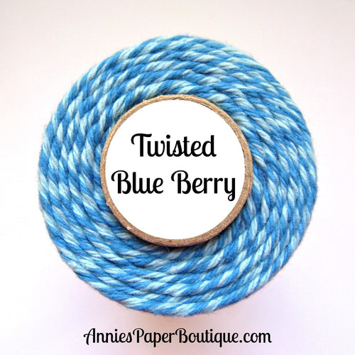Twisted Blue Berry Trendy Bakers Twine - Blue & Light Blue