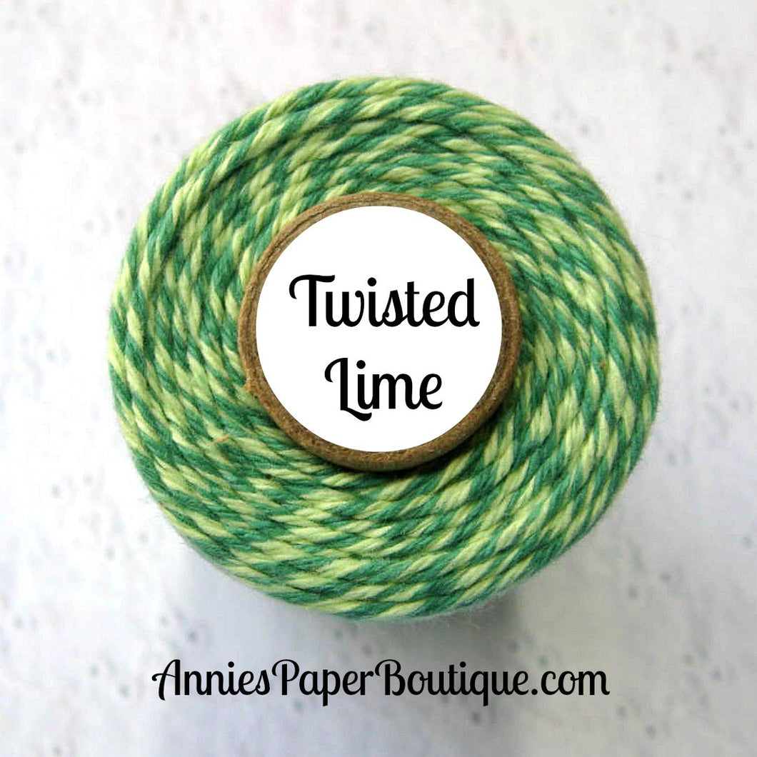 Twisted Lime Trendy Bakers Twine - Soft Green & Green