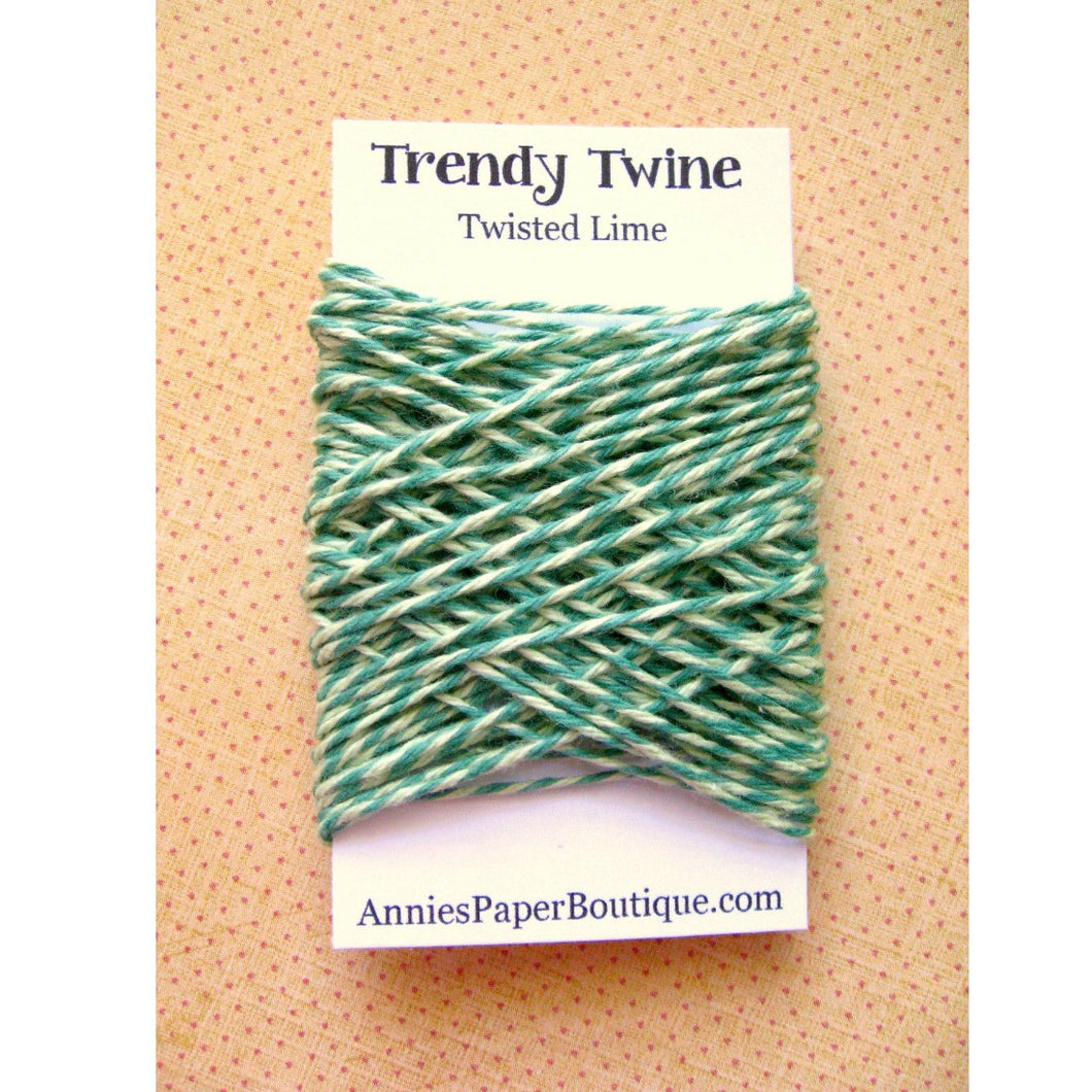 Green Bakers Twine - Twisted Lime Trendy Twine