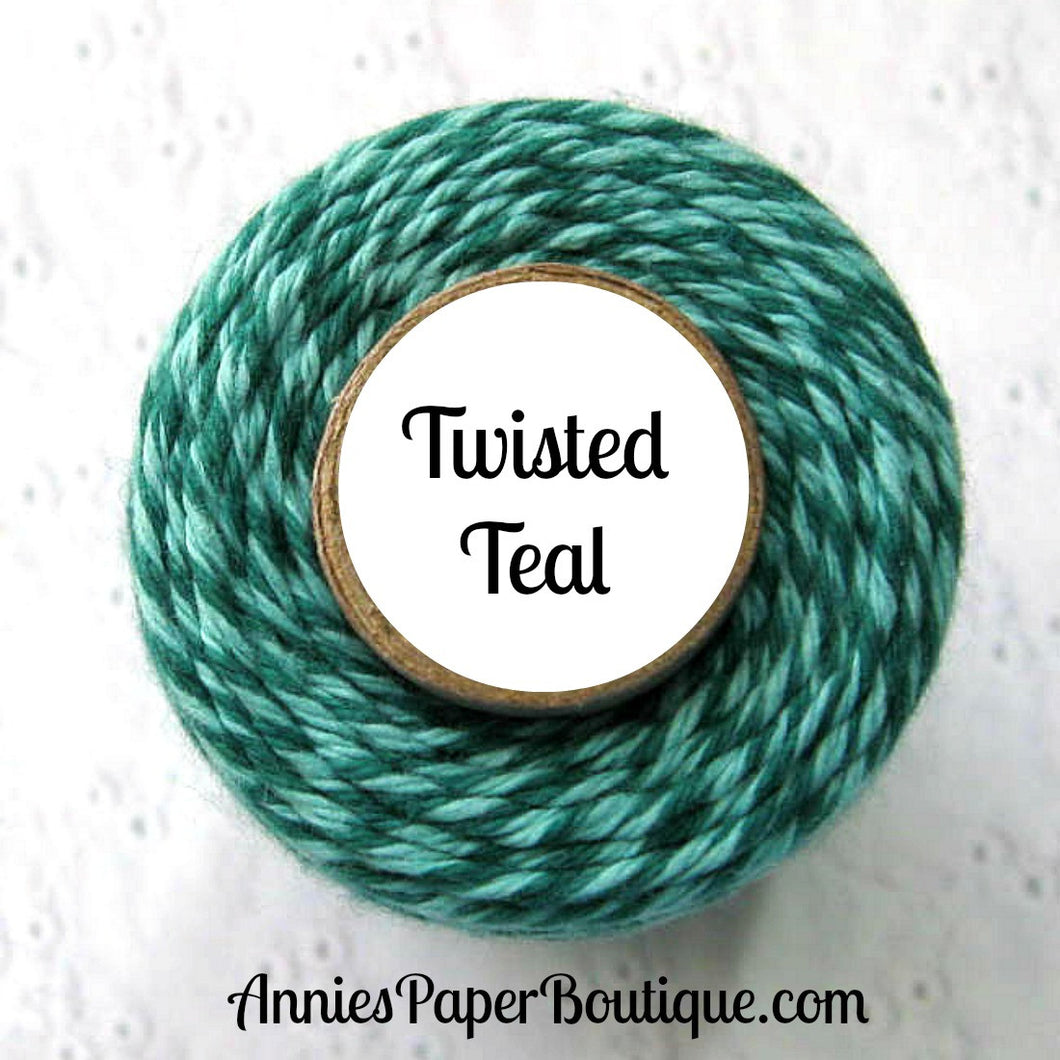 Twisted Teal Trendy Bakers Twine - Dark Teal and Light Teal