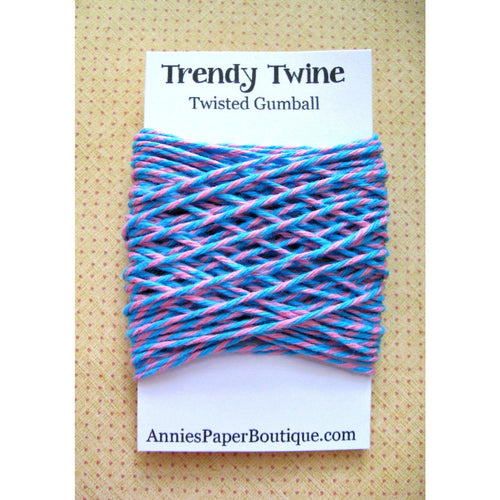 Aqua Blue and Pink Trendy Bakers Twine