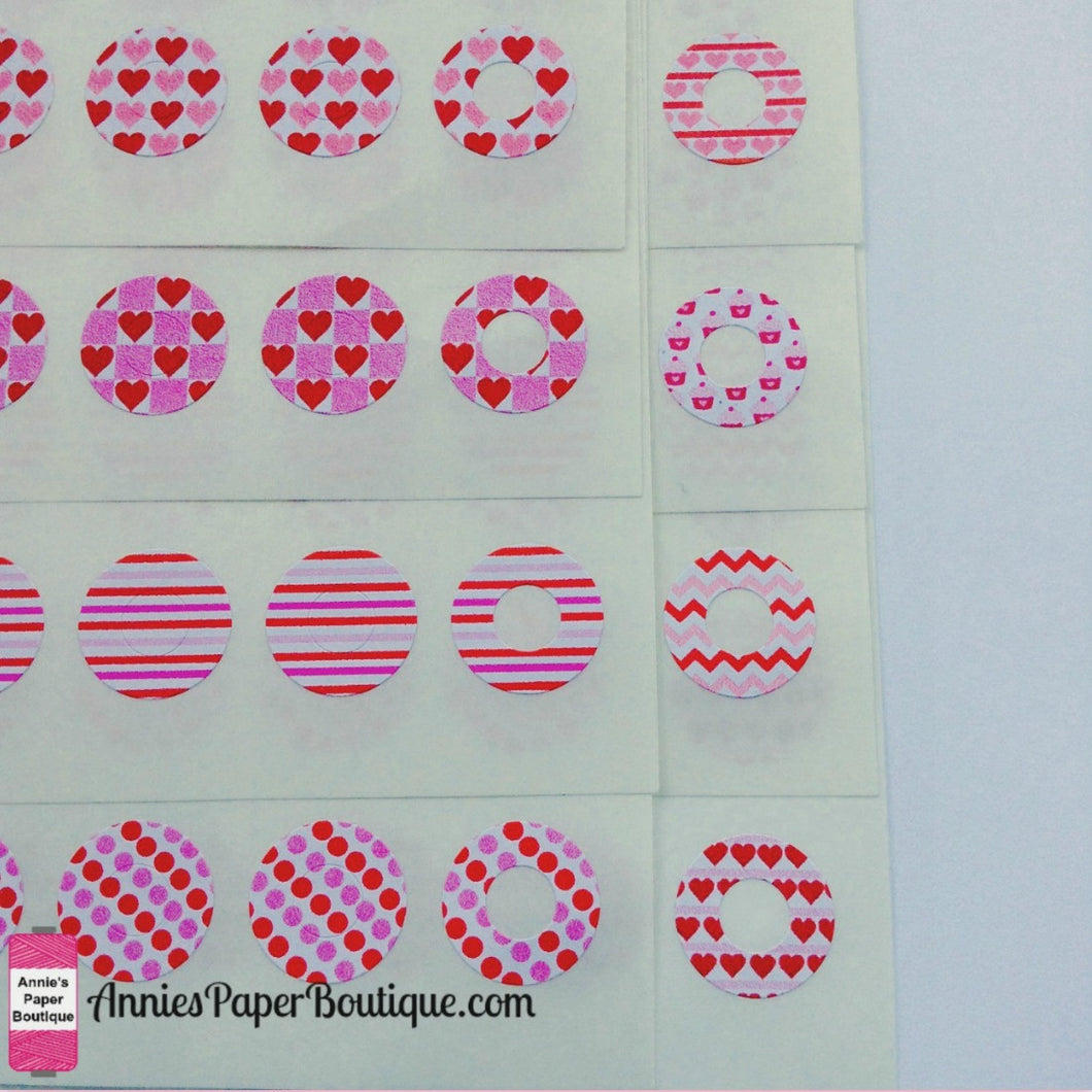 Valentine Trendy Page Dots™ - Hole Reinforcers, Planner Stickers