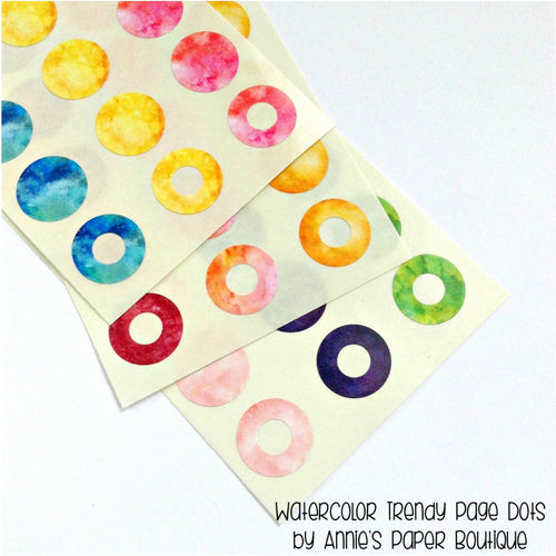 Watercolor Reinforcement Stickers