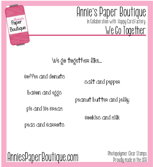We Go Together Planner Stamps - 3x4