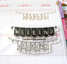 Weekend Banners Planner Stamps