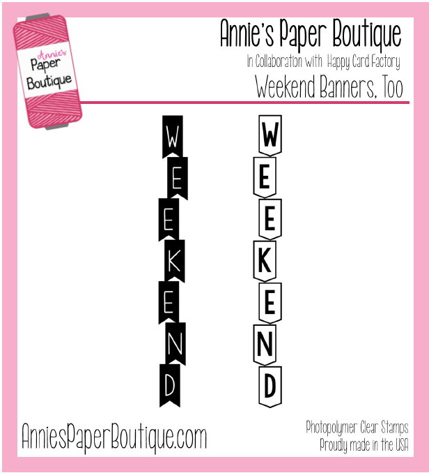 Weekend Banners, Too Planner Stamps
